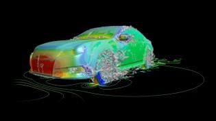 スーパーコンピューターを活用した自動車の空気力学シミュレーション